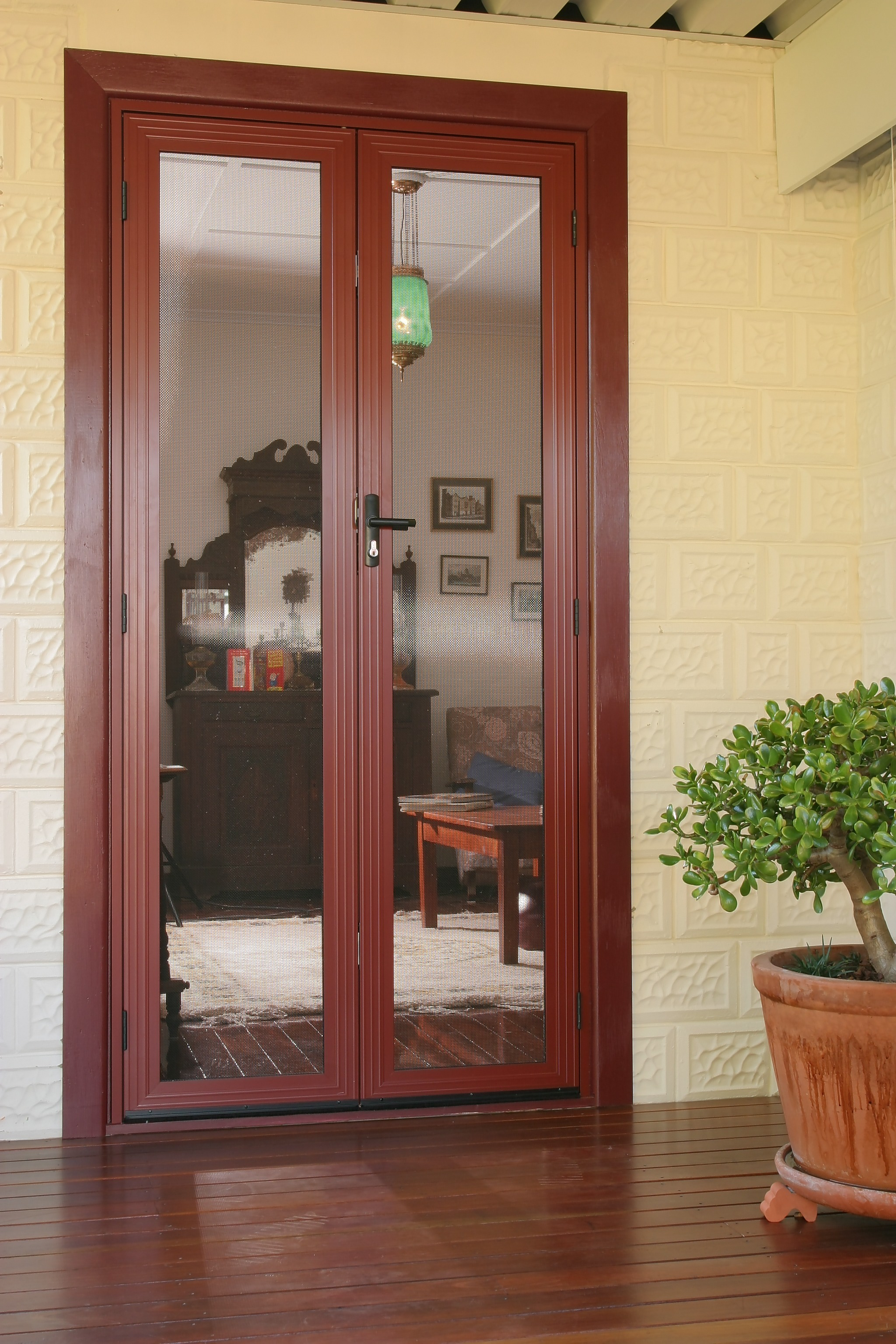 French doors hinged