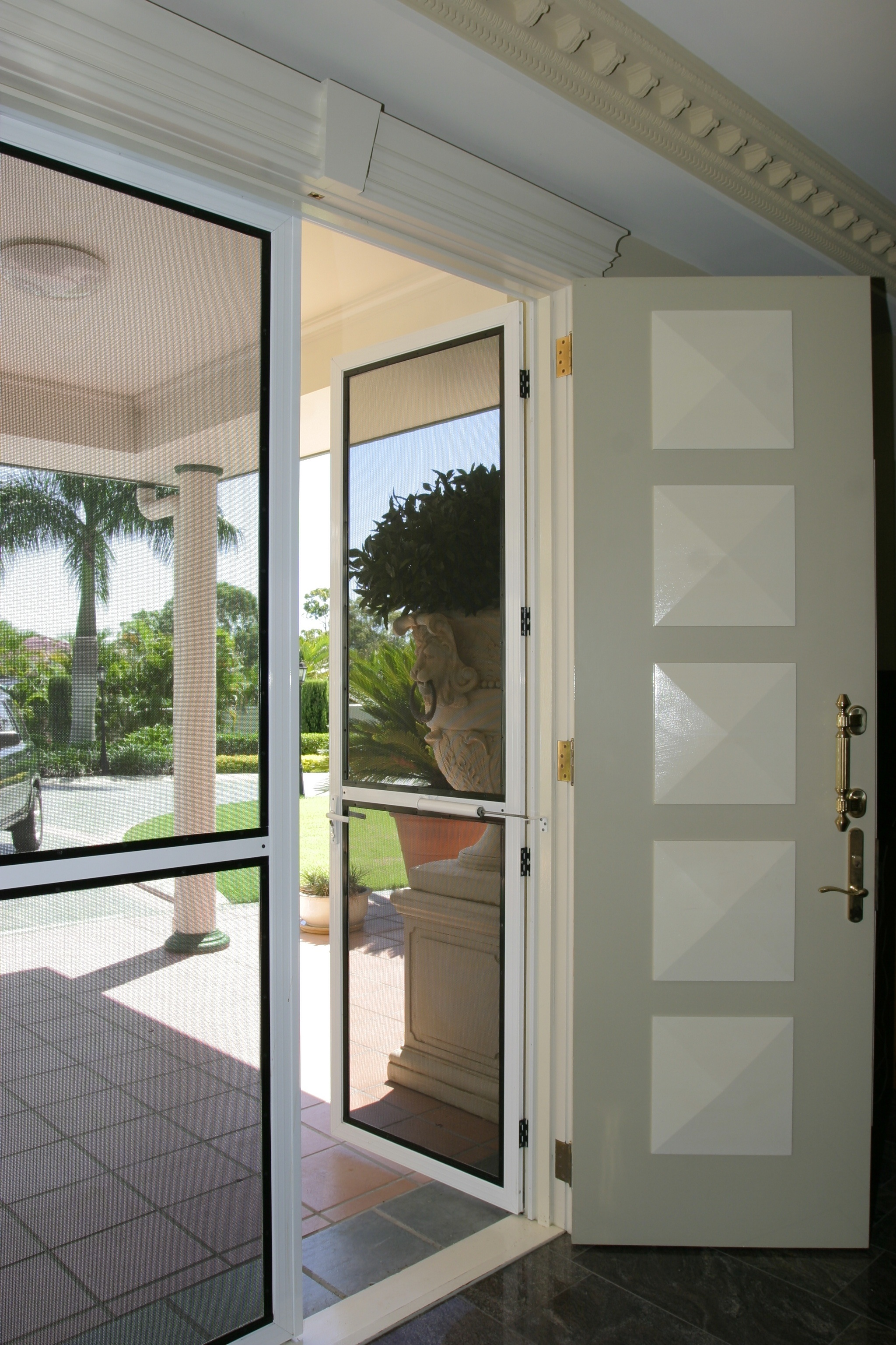 Standard Door, White, Hinged Open
